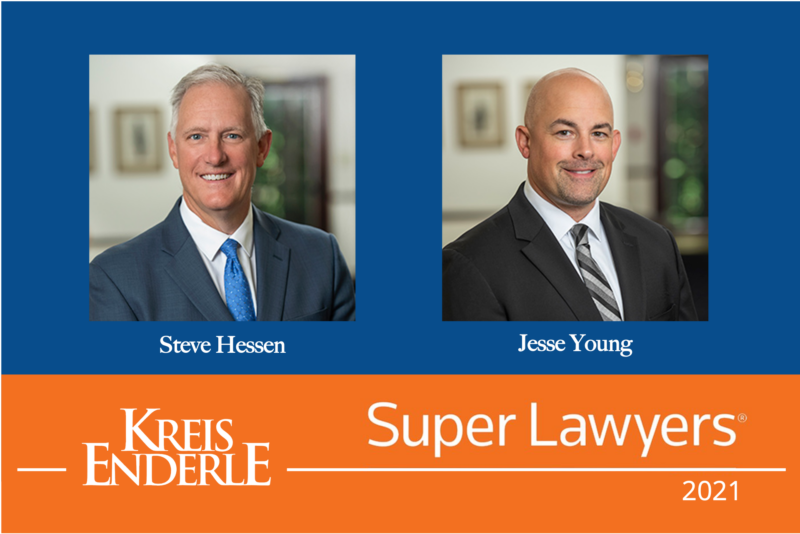 2021 Super Lawyers Steve Hessen and Jesse Young
